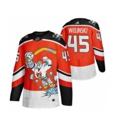 Men's Anaheim Ducks #45 Andy Welinski Red 2020-21 Reverse Retro Alternate Hockey Jersey