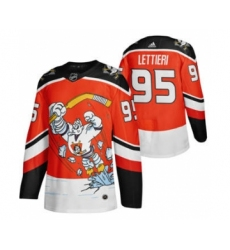 Men's Anaheim Ducks #95 Vinni Lettieri Red 2020-21 Reverse Retro Alternate Hockey Jersey