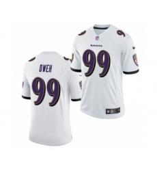 Men's Baltimore Ravens #99 Jayson Oweh White 2021 Vapor Untouchable Limited Jersey
