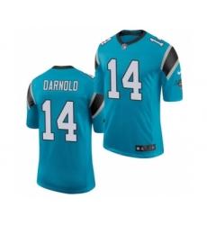 Men's Carolina Panthers #14 Sam Darnold Blue Vapor Untouchable Limited Jersey