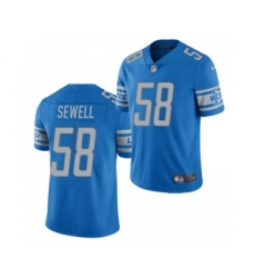 Men's Detroit Lions #58 Penei Sewell 2021 Football Draft Blue Vapor Untouchable Limited Jersey