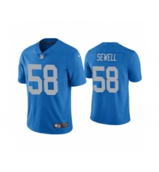 Men's Detroit Lions #58 Penei Sewell 2021 Football Draft Blue Vapor Untouchable Stitched Limited Jersey