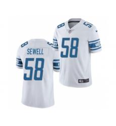 Men's Detroit Lions #58 Penei Sewell 2021 Football Draft White Vapor Untouchable Limited Jersey