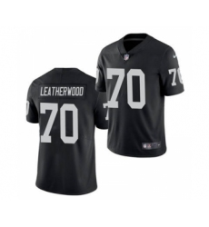 Men's Oakland Raiders #70 Alex Leatherwood 2021 Football Draft Black Vapor Untouchable Limited Jersey