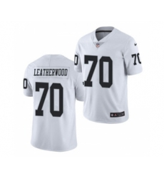 Men's Oakland Raiders #70 Alex Leatherwood 2021 Football Draft White Vapor Untouchable Limited Jersey