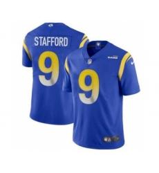 Men's Los Angeles Rams #9 Matthew Stafford Blue Bone Stitched Football Limited Jersey