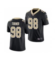 Men's New Orleans Saints #98 Payton Turner 2021 Football Draft Black Limited Jersey