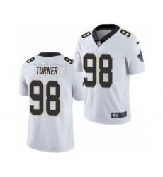 Men's New Orleans Saints #98 Payton Turner 2021 Football Draft White Limited Jersey