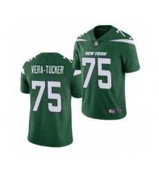 Men's New York Jets #75 Alijah Vera-Tucker 2021 Football Draft Green Vapor Untouchable Limited Jersey