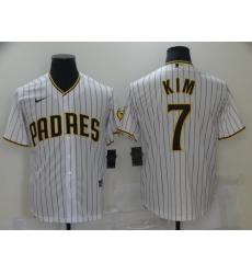 Men's Nike San Diego Padres #7 Ha-Seong Kim White Collection Baseball Player Jersey