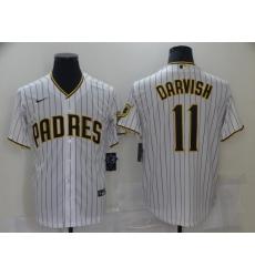 Men's San Diego Padres #11 Yu Darvish Nike White 2021 MLB Jersey