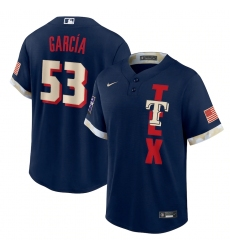 Men's Texas Rangers #53 Adolis García Nike Navy 2021 MLB All-Star Game Replica Player Jersey
