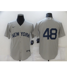 Men's New York Yankees #48 Anthony Rizzo Gray Game 2021 Field of Dreams Jersey