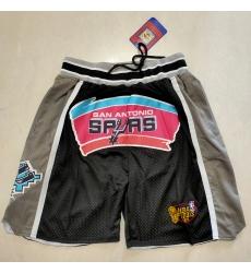 Men's San Antonio Spurs Black-Gray Shorts