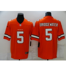 Men's Denver Broncos #5 Teddy Bridgewater Orange Limited Jersey