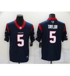 Men's Houston Texans #5 Tyrod Taylor Nike Navy Limited Jersey
