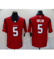 Men's Houston Texans #5 Tyrod Taylor Nike Red Limited Jersey