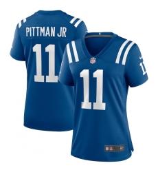 Women's Indianapolis Colts #11 Michael Pittman Jr. Nike Royal Game Player Jersey