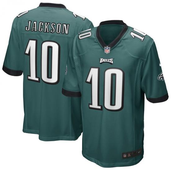 Men's Philadelphia Eagles #10 DeSean Jackson Midnight Green Nike Game Jersey