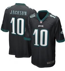Men's Philadelphia Eagles #10 DeSean Jackson Nike Black Game Jersey