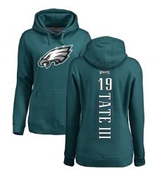 Women's Nike Philadelphia Eagles #19 Golden Tate III Green Backer Pullover Hoodie