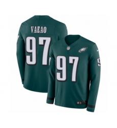 Youth Nike Philadelphia Eagles #97 Destiny Vaeao Limited Green Therma Long Sleeve NFL Jersey