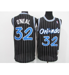 Men's Orlando Magic #32 Shaquille O'Neal Black Mitchell & Ness Black Retired Player Jersey