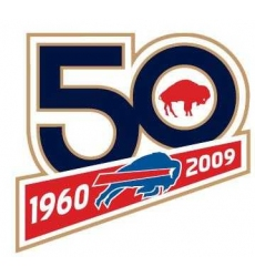 Stitched Buffalo Bills 50th Anniversary Jersey Patch