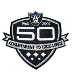 Stitched Oakland Raiders 50th Anniversary Jersey Patch