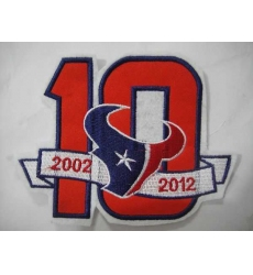 Houston Texans 10 Anniversary Patch
