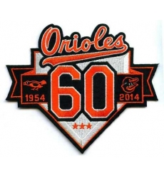 Stitched Baseball 2014 Baltimore Orioles 60th Anniversary Patch