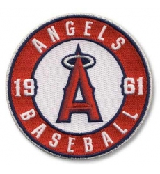 Stitched Baseball Los Angeles Angels of Anaheim Round Sleeve '1961' Patch (2012)