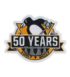 Stitched 2017 Official Pittsburgh Penguins 50th Anniversary Jersey Patch