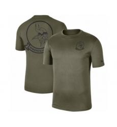 Football Men's Minnesota Vikings Olive 2019 Salute to Service Sideline Seal Legend Performance T-Shirt