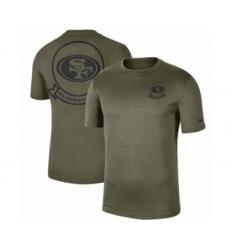 Football Men's San Francisco 49ers Olive 2019 Salute to Service Sideline Seal Legend Performance T-Shirt