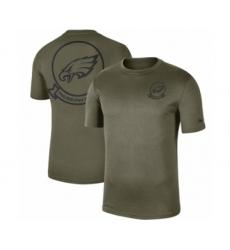 Football Men's Philadelphia Eagles Olive 2019 Salute to Service Sideline Seal Legend Performance T-Shirt