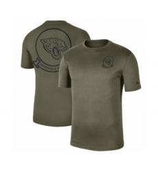 Football Men's Jacksonville Jaguars Olive 2019 Salute to Service Sideline Seal Legend Performance T-Shirt