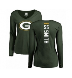 Football Women's Green Bay Packers #55 Za'Darius Smith Green Backer Long Sleeve T-Shirt