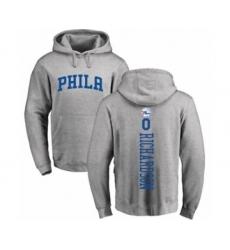 Basketball Philadelphia 76ers #0 Josh Richardson Ash Backer Pullover Hoodie