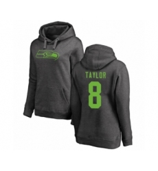 Football Women's Seattle Seahawks #8 Jamar Taylor Ash One Color Pullover Hoodie