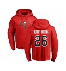Football Tampa Bay Buccaneers #26 Sean Murphy-Bunting Red Name & Number Logo Pullover Hoodie