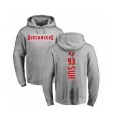 Football Tampa Bay Buccaneers #93 Ndamukong Suh Ash Backer Pullover Hoodie