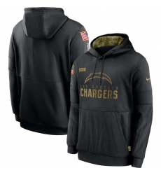 Men's NFL Los Angeles Chargers 2020 Salute To Service Black Pullover Hoodie