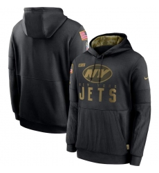 Men's NFL New York Jets 2020 Salute To Service Black Pullover Hoodie