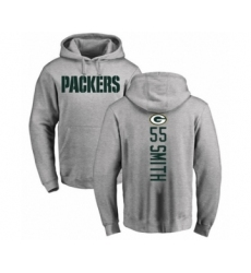 Football Green Bay Packers #55 Za'Darius Smith Ash Backer Hoodie