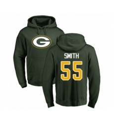 Football Green Bay Packers #55 Za'Darius Smith Green Name & Number Logo Pullover Hoodie