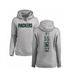 Football Women's Green Bay Packers #55 Za'Darius Smith Ash Backer Hoodie
