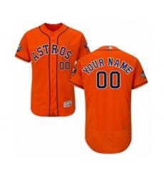 Men's Houston Astros Customized Orange Alternate Flex Base Authentic Collection 2019 World Series Bound Baseball Jersey