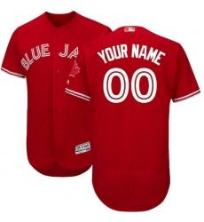 Men's Toronto Blue Jays Majestic Scarlet 2017 Flex Base Authentic Collection Custom Jersey
