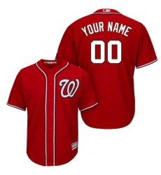 Men's Washington Nationals Majestic Red Cool Base Custom Jersey
